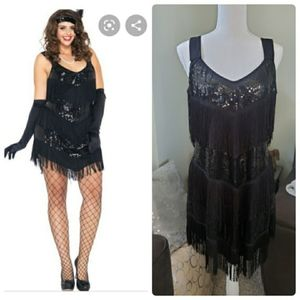 Leg Avenue Flapper Costume Roaring 20's Honey
